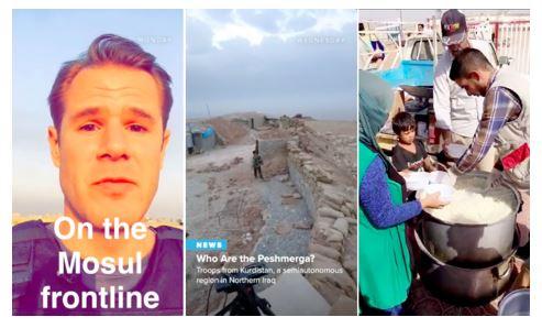 Historias de NBC contadas a través de Snapchat